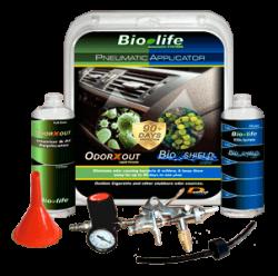 Pneumatic Applicator for Odor Removal & Prevention